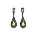 Csepp alakú, nagy sárga köves fülbevaló 2995 forint a Zarában.