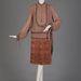 Selyem zsorzsett és bársony ruha a Halle Bros.Co. tervezésében 1926-ból.