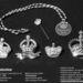 Szuvenírek II.Erzsébet megkoronázásának emlékére: brossok, nyakkendőtű és a medálok