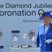 Erzsébet kékben gyémántjubileuménak évfordulóján.