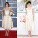 Alexa Chung és Audrey Tautou is ugyanabban a fehér ruhában jelentek meg, egyikük a Grammy-n, másikuk a Cannes-i fesztiválon.