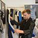 Igor Deseatnikov, a magyar InStyle munkatársa is lecsapott a kék-fehér-fekete darabokra, amelyeket Victoria Beckham kollekciója inspirált.