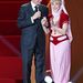Jeannie, a háziszellem egykori szereplője, Barbara Eden és Bill Clinton.