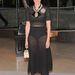 Cynthia Rowley amerikai divattervező fehérneműje fölé húzott átlátszó ruhát.