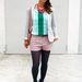 Ina Wiefel Mango shortban, H&M nyaklánccal ment a Mercedes-Benz Fashion Week berlini állomására.