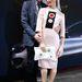 Goetz Schubert színész és Bibiana Beglau színésznő a divathéten. A színésznőn Prada ruha látható.