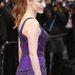 Jessica Chastain lazán, kissé kócosan a cannes-i filmfesztivál vörösszőnyegén.