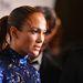 Jennifer Lopez az amFAR gála kedvéért fogta össze a haját és ő is a lenyalt stílus híve.