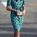 Katalin hercegné 2012 nyarán választott zöld alapú geometrikus mintákat
