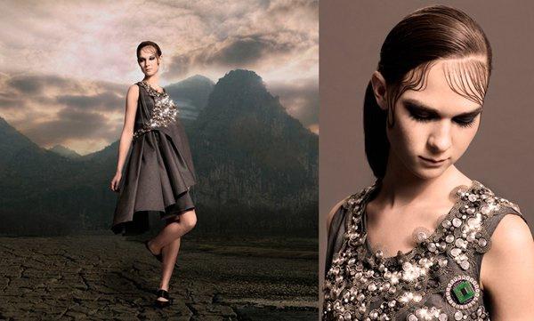 A kifejezetten Dita Von Teese-re szabott 3D-s nyomtatott haute couture ruhát a Shapeways készítette el Michael Schmidt és Francis Bitonti tervei alapján.