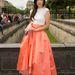 Xu Jinglei narancs színű hegyes orrú cipellőt választott a hangsúlyos ruhához.