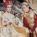 """Az úgynevezett """"Kleopátra szem"""" megjelent a smink divatban is, a Revlon például Kleopátrával reklámozta """"Sphinx Eyes"""" névre keresztelt kampányát"""