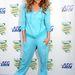 Jennifer Lopez a  British Summer Time Hyde Park című rendezvény hatodik napjára érkezett talpig melegítőben. Oké, hogy a Hyde parkban tartották a rendezvényt, de attól még nem kéne játszósruhában menni.