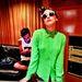 Miley Cyrus stúdiózás közben vett turbánt.