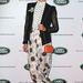 Heidi Middleton ausztrál híresség basanadrágban szórakozik a Range Rover rendezvényén Sydney-ben.