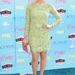 Brittany Snow színésznő mentazöld, csipkés Oliver Tolentino ruhában. Határeset, önnek tetszik?