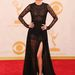 Lena Headey kontrasztra vágyott, a fekete csipkés, itt-ott áttetsző ruhához fehér cipőt vett fel.