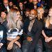 Celebdömping volt a Givenchy shown, az első sorban foglalt helyet Lily Collins, Ciara, Kanye West és Kim Kardashian.