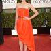 A Dior egyik divatnagyköveteként egy narancssárga, aszimmetrikus szabású Dior haute couture-ben érkezett a Golden Globe-díjátadóra is.