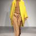 Veronique Branquinho őszi-téli kollekciójában ez az egy kabát volt élénk színű, a többi bézs, barna és sötétkék színekben játszott.