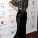 Miranda Kerr fekete csipkeruhában.