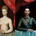 Ismeretlen festő alkotása: Gabrielle d'Estrées és egyik testvére. A képet Kate Mosszal értelmezte újra a YSL, a férfit alacsonyabb státuszba taszítva.