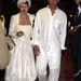 Naomi Campbell születésnapi zsúrján 2004-ben.