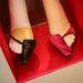 Alain Tondowski cipő Isabella Blow életmű kiállításán.