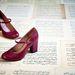 A cipő 8.89 centiméter sarkat kapott.