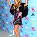 Paulina Rubio énekesnő nagyon érzi a bulit az X Factor Finalist Party-n Los Angelesben, november 4-én.