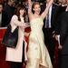 Jennifer Lawrence az Éhezők viadalának római premierjén örül.