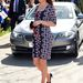 2013. április 23.: Katalin nagymintás ruhában megy jótékonykodni. Komoly újítás ez a megszokott, visszafogott ruhákhoz képest.