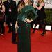 Olivia Wilde smaragdzöld, csupaflitter  Gucci Première ruhájában büszkén mutatta meg gömbölyödő hasát.