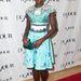 Mary Katranzou mintás ruhájában a DoJour estélyén.