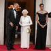 II. Erzsébet királynéval és Barack Obamával 2011 májusában.