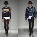 A kollekcióban a mintás pulóverek találkoztak kalapokkal és leggings-szerű nadrágokkal.