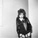 Egy punk divatbemutató modellje 1977 szeptemberéből.