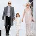 Karl Lagerfeld, a tervező ötéves keresztfia és Cara Delevingne.