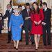 Katalin hercegné és Erzsébet királynő február 18-án fogadták a Royal Academy of Dramatic Art legkiválóbb színészeit a Buckingham palotában.