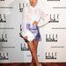 Laura Whitmore Warehouse ruhában az Elle Style Awards 2014-en.