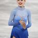 Az amerikai Gracie Gold szőke hajához és kék szeméhez jól passzolt ez a kék színátmenetes, kristályokkal díszített ruha. A jégen is jól mutatott, az biztos.