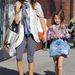 Brooke Burke Charvet és kislánya. Malibun vásárolgatnak.