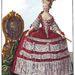 Mária Antónia évente trendet váltott, 1780 körül így ábrázolták.