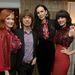 A Banana Republic kollekciójának bemutatóján Mick Jaggerrel,Christina Hendricksszel és Jessica Paréval.