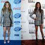 Jennifer Lopez és Jourdan Dunn - két hullámos hajú szépség hosszú lábakkal.
