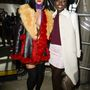 A friss Oscar-díjas  Lupita Nyong'o-val a Miu Miu párizsi bemutatóján.