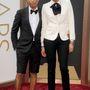 Pharrell Williams és Helen Lasichanh az Oscar-díjátadón.