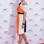Karolina Kurkova színes panelekkel megbolondított Roksanda Ilinčić ruhában ment a 'For the Love of Cinema' gálavacsorára.