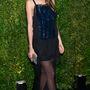 Lily Aldridge is feketét választott, ő az anyagok kombinálásával játszott.