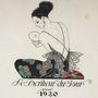 Illusztráció egy George Barbier és Henri Reidel művészeti albumból, amelynek fő témája az 1920-as évek elejének divatja.